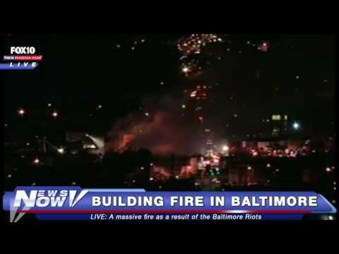 FNN: Breaking News - Fires Erupt in Baltimore Following Riots