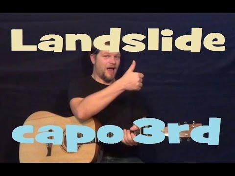 Landslide (Fleetwood Mac) Guitar Lesson Strum Chords Fingerstyle How ...