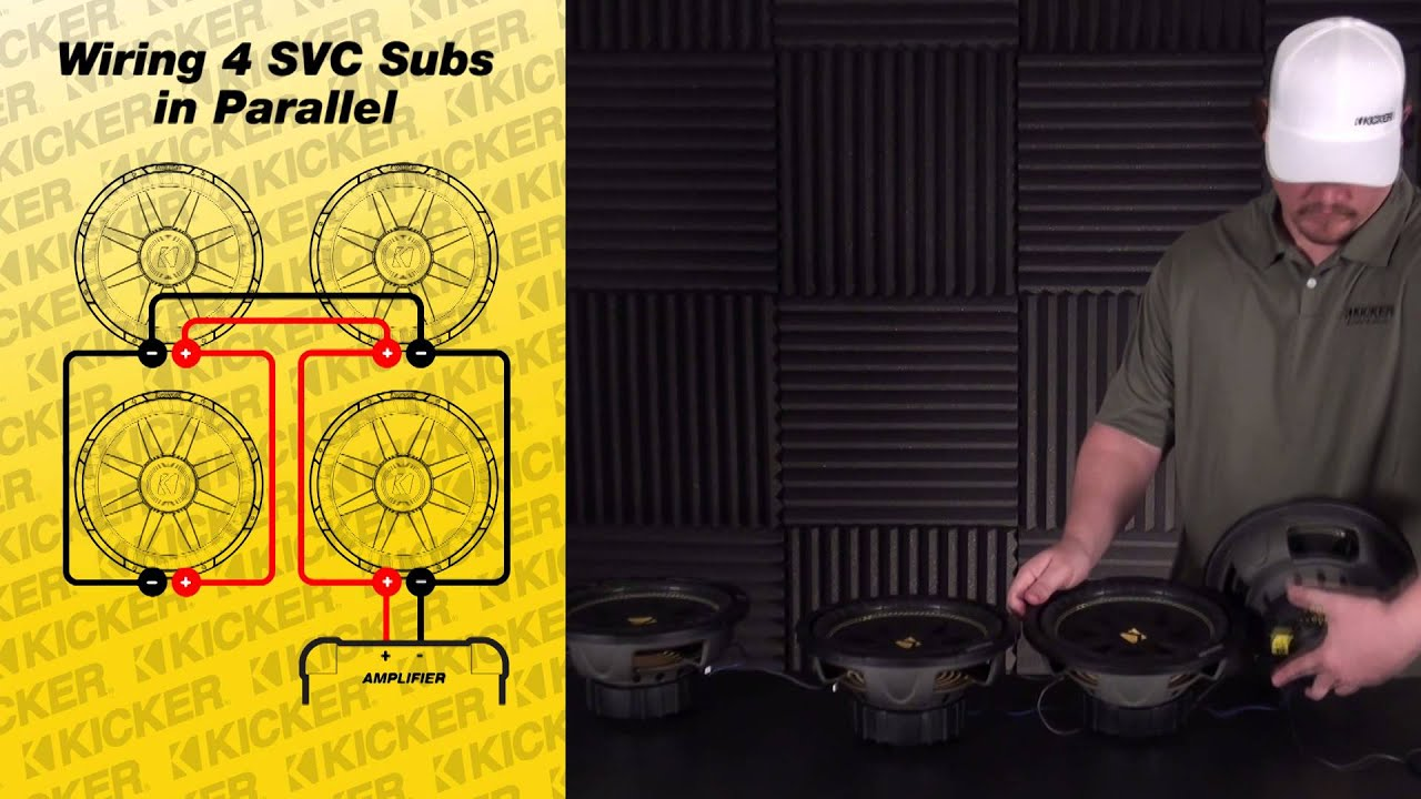 Subwoofer Wiring Four Svc Subwoofers Wired In Parallel Youtube Sub Premium