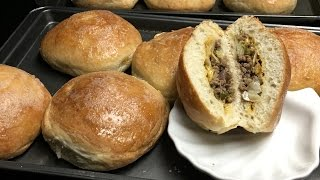 Bierocks is quick and easy to prepare. A dough filled with cabbage, hamburger, and onions. I also add green bell pepper and garlic which is optional it could go ...