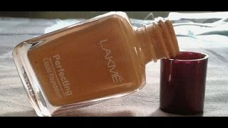 lakme perfecting liquid foundation(natural coral) review in hindi