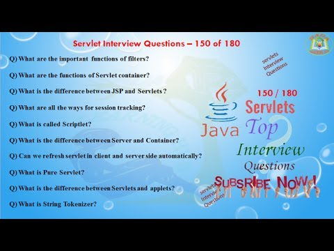 servlet interview questions 150 out of 180