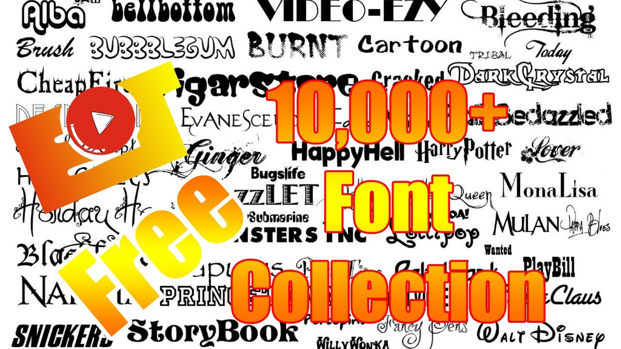 Download How to Download Free Font Collection 10,000+ in ZIP FILE ...