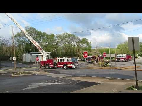 Breaking News -- Fire At Blair House Apartments/Huntingdon Motor Works May 12 2020