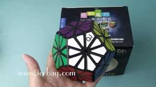 qj 12 colors pyraminx crystal megaminx magic cube black unboxing