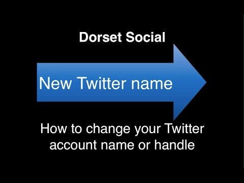 How to change your Twitter account name