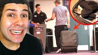 Download SNEAKING INTO MOVIES USING SUITCASE!! (BLOOPERS) Mp3 and Videos