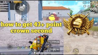 How to get 43+ point crown second | PUBG MOBILE RUSH Gameplay