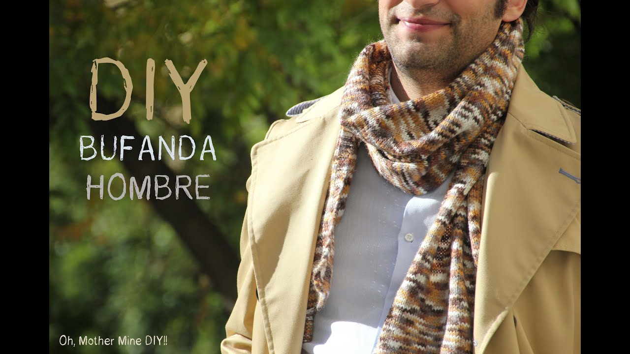 DIY Cómo tejer una bufanda de hombre - YouTube
