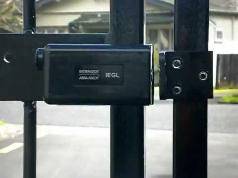 Electronic auto gate lock youtube for Driveway gate lock