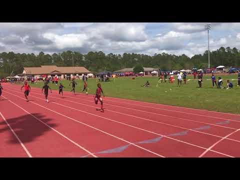 9 year old Darious Gardner 13.21... 100 meters