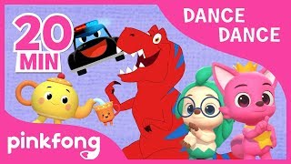 Tyrannosaurus-Rex and more | Dance Dance | +Compilation | Pinkfong Dance Along for Children