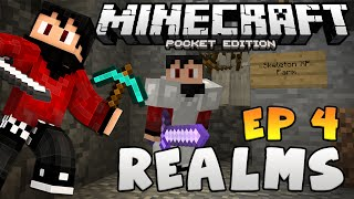 """""""New XP Farm & Mob Grinder"""" Minecraft PE - Realms Multiplayer SMP - Ep. 5"""