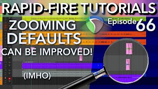 Optimizing Zooming defaults in REAPER w/ Hotkeys & Mouse Mods (Rapid-fire Reaper Tutorials Ep66)