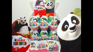 Киндер Сюрпризы Кунг Фу Панда 3 Новая Коллекция игрушек! Unboxing Kinder Surprise Kung Fu Panda 3(Новые Киндер Сюрпризы по мультику Кунг Фу Панда 3 Unboxing New Kinder Surprises of the cartoon Kung Fu Panda 3 ----------------------------------------------..., 2015-10-09T04:27:03.000Z)
