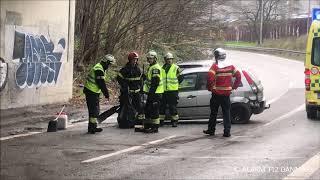 17.11.2019 - Bil kørt galt