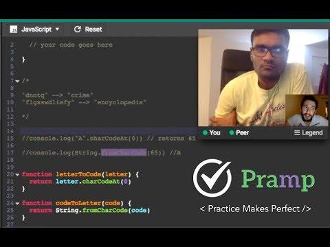 Java Coding Interview Practice, Live Session on Pramp