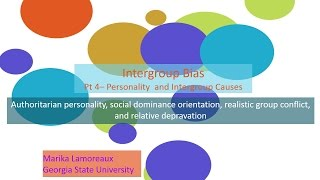 Intergroup bias   4 personality and intergroup causes