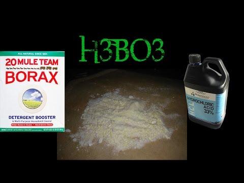 How to make Boric Acid (H3BO3)