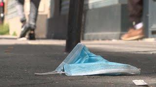 Использованные маски: мусорный след пандемии