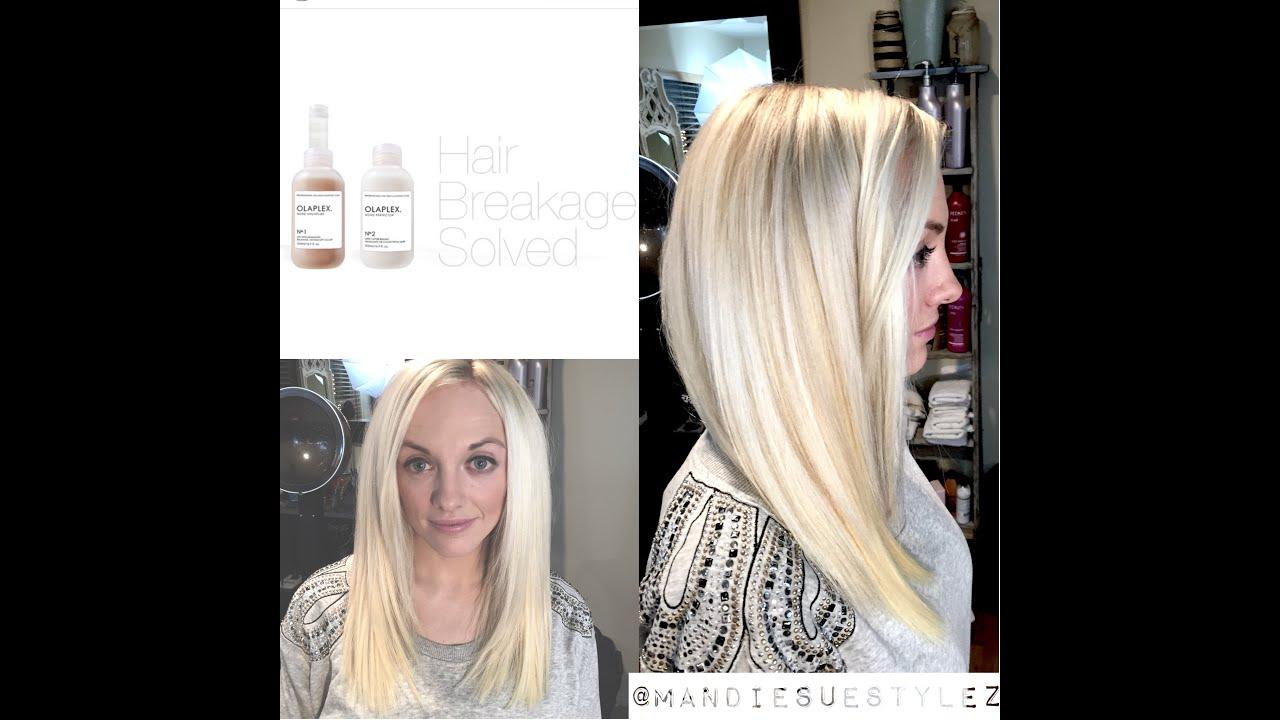 Olaplex Tutorial | Platinum Blonde | NO BREAKAGE - YouTube