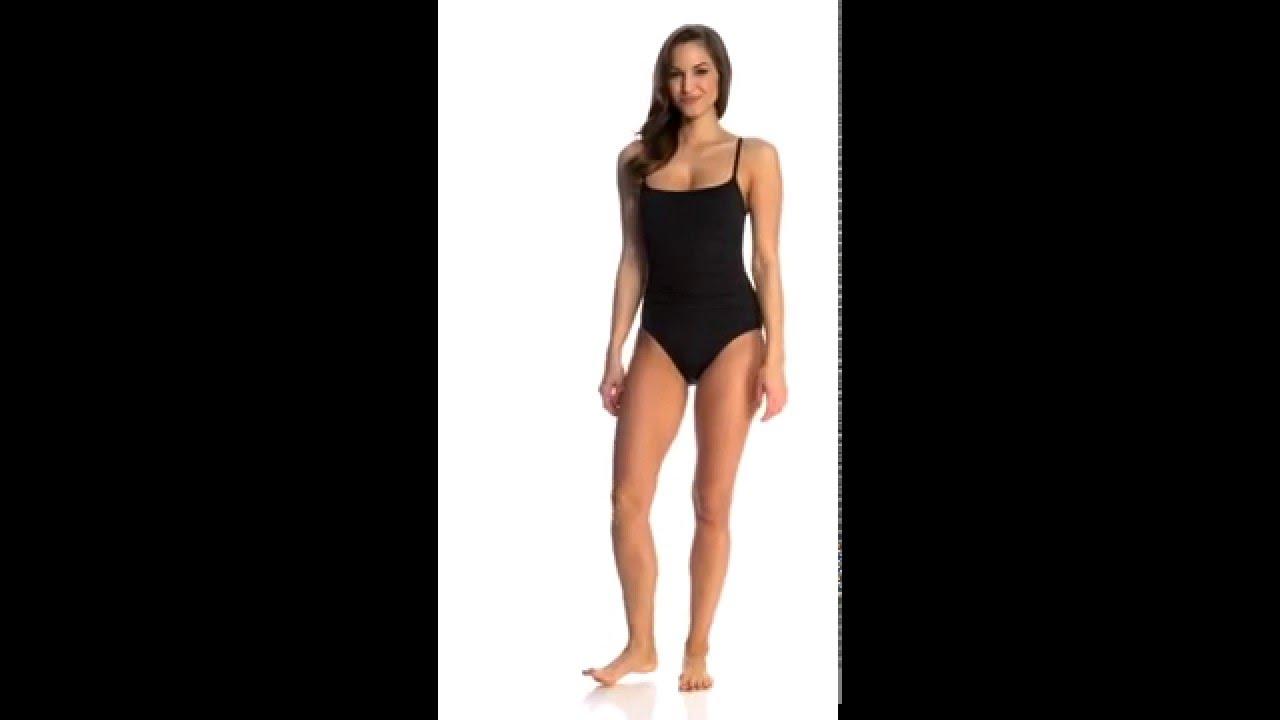 d7afb0bc559 Anne Cole Color Blast Solid Shirred Lingerie One Piece Swimsuit |  SwimOutlet.com