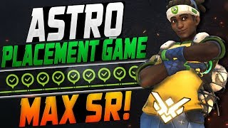 ASTRO CARRY LUCIO! PLACEMENT GAME! [ OVERWATCH SEASON 12 TOP 500 ]