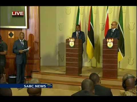 SA, Mozambique bilateral talks: 22 October 2015