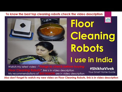 Robotic Vacuum Cleaners I use in India, Home automation Demo, Dry & Wet Mopping Floor Robot, iRobot