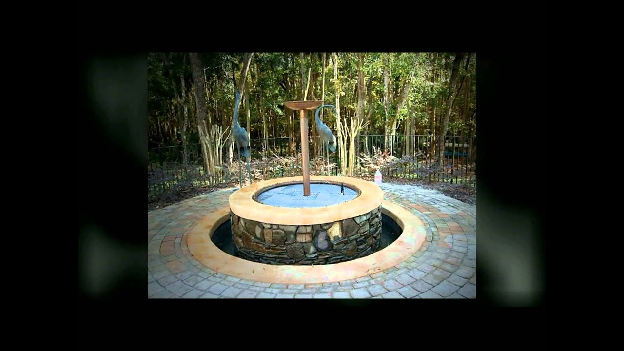 Fire Pit And Outdoor Water Fountain Port Orange Florida