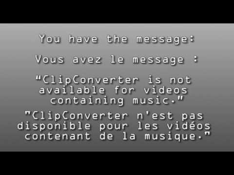Exact Reason Why (les vraies raisons) clip converter cc is NOT WORKING  (ne marche plus)