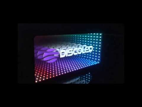 DISCOLED Signboards with infinity effect