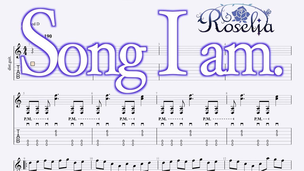 Song I am. / Roselia 【Guitar TAB】
