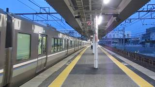 JR西日本 223系2000番台 普通 姫路行き 南草津駅 膳所駅  20180625
