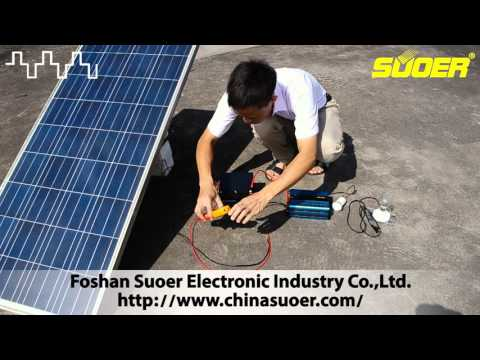 Suoer Mini Solar Power System 20A 1000VA Build Tutorial(SUS-1000A)