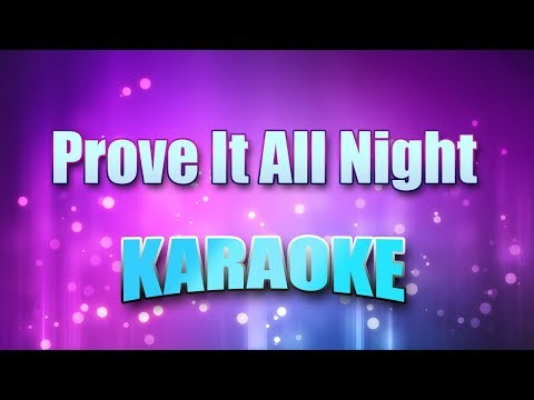 Bruce Springsteen - Prove It All Night (Karaoke version with Lyrics)