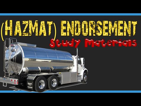 CDL Endorsement HazMat -  New York - Part 1