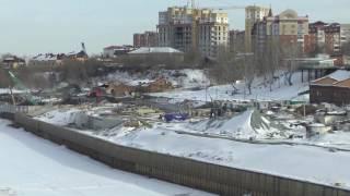 Строительство набережной. Тюмень. Март 2017 г.