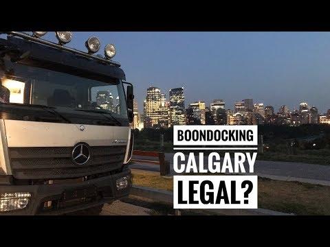 City Life In Calgary In A Rv 4x4 -Bimobil Ex 480