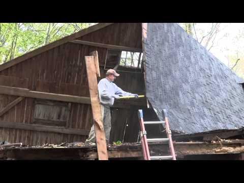 John Robinson Dismantling Edith's Barn