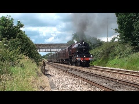 The Queen Leaves Worcester on the Royal Train 6201 Princess Elizabeth 11th July 2012