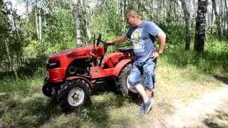 Видеообзор мини-трактора ROSSEL XT-184D на свежем воздухе.
