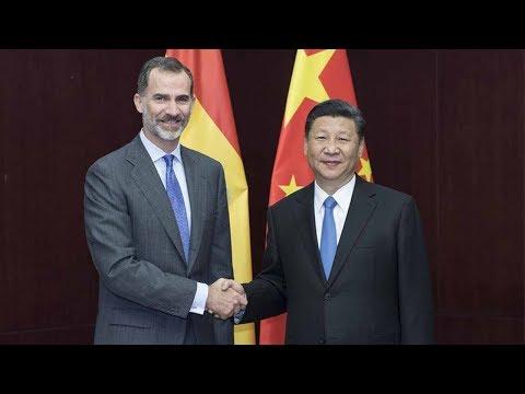 President Xi Jinping holds talks with Spain's King Felipe VI
