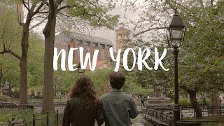 뉴욕 일상 브이로그 / 비오는날 카페산책, 프렌즈의 미…