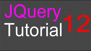 JQuery Tutorial for Beginners - 12 - Toggle classes on and off