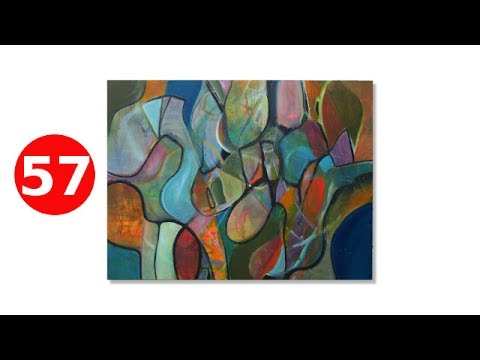 Acrylic Abstract Painting Techniques for Beginners - #57 - Andy Morris