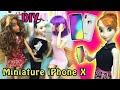 New iPhone X - DIY Miniature Doll Smart Phone - Easy Barbie Doll Crafts & Cartoon Movies