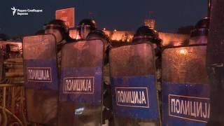 Полициjaта ги спречи демонстрантите да протестираат пред Уставниот суд