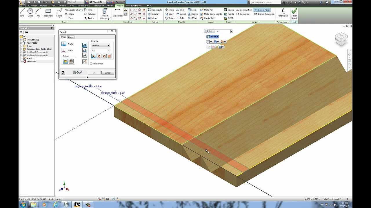 woodworking - miter folding with autodesk inventor - tutorial