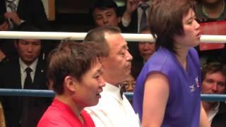 Women's Boxing 山﨑静代 vs 薛春秋 (女子ボクシング) 2013.4.2